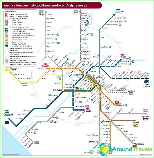 Metro Rome Kaavio Kuvaus Kuvia Metro Kartta Rooma