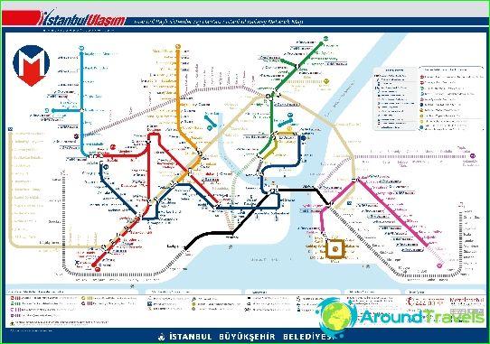 Metro Istanbul Diagram Beskrivningen Foton Istanbul Metro Karta