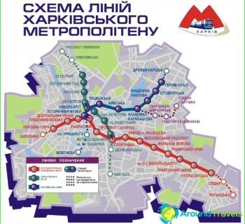 Metro Kharkov-circuit-description-photo-map-metro