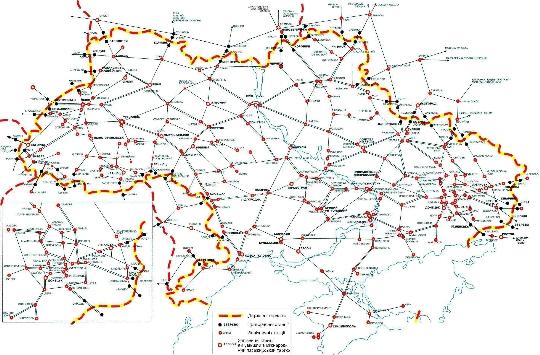 Rautatiet Ukrainan Kartta Verkkosivusto Valokuvia