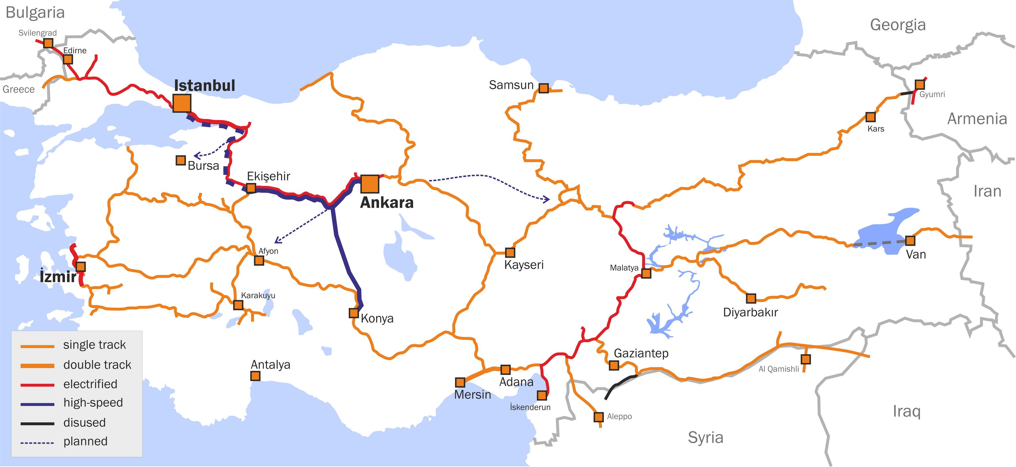 Rautateiden Turkki Kartta Verkkosivusto Valokuvia