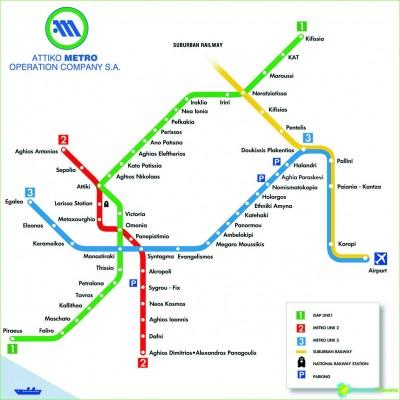 Metro Athens-circuit-description-photo-map-metro-Athens