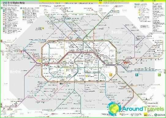 Berlin Metro Diagram Beskrivelse Fotos Subway Kort Over Berlin