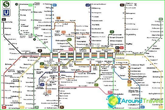 Munich Metro Kaavio Kuvaus Kuvia Subway Kartta Munich