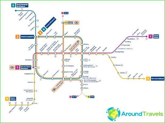 Bryssel Metro Kaavio Kuvaus Kuvia Bryssel Metro Map