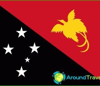 flag of Papua New Guinea-photo-history value