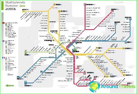 U-Bahn Hannover: Diagramm, Beschreibung, Fotos. U-Bahn-Karte von ...