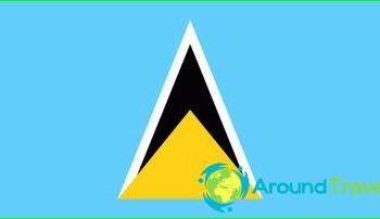 Flag of Saint Lucia, photos, history, value-colors
