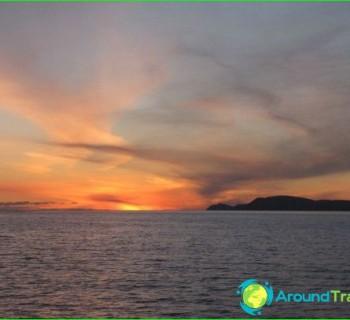 Bering-sea-map, photo-coast of the Bering Sea,