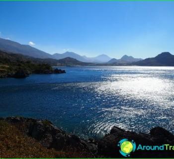 Cretan-sea-map, photo-coast-Cretan-Sea