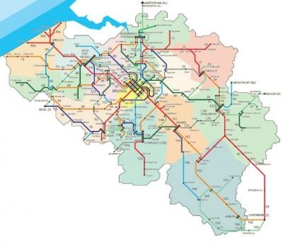 rail-road-Belgium map site photo