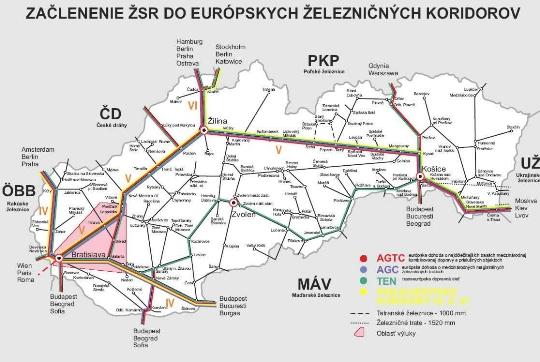 Zeleznice Na Slovensku Mapa Webove Stranky Fotografie