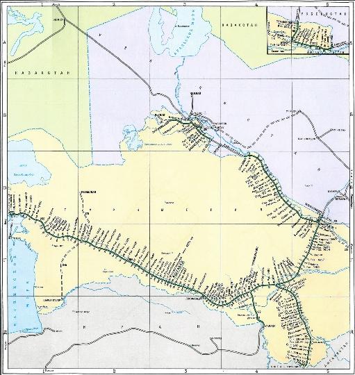 Rautatiet Turkmenistanin Kartta Verkkosivusto Valokuvia