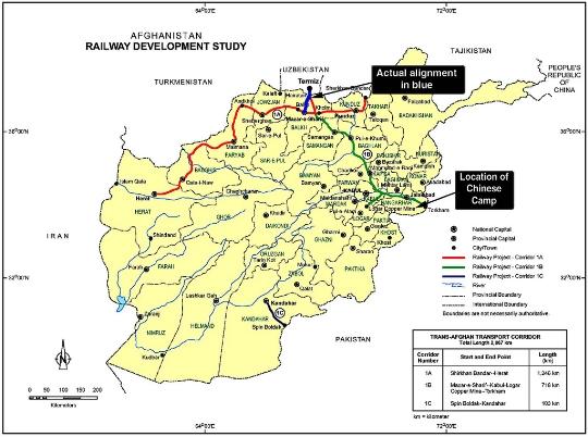 Rautatiet Afganistan Kartta Verkkosivuilla Valokuvia