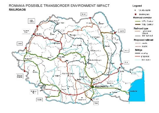 Railroads Romania Kartta Verkkosivusto Valokuvia