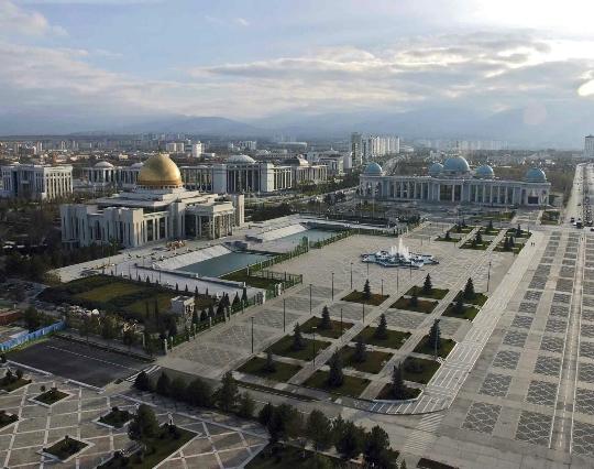 Paakaupunki Turkmenistan Kartta Valokuva Mika On Paaoman