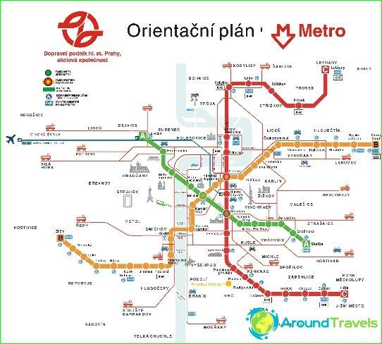 Metro Prag Karte.Prag U Bahn Diagramm Beschreibung Fotos Karte Von Prag Metro