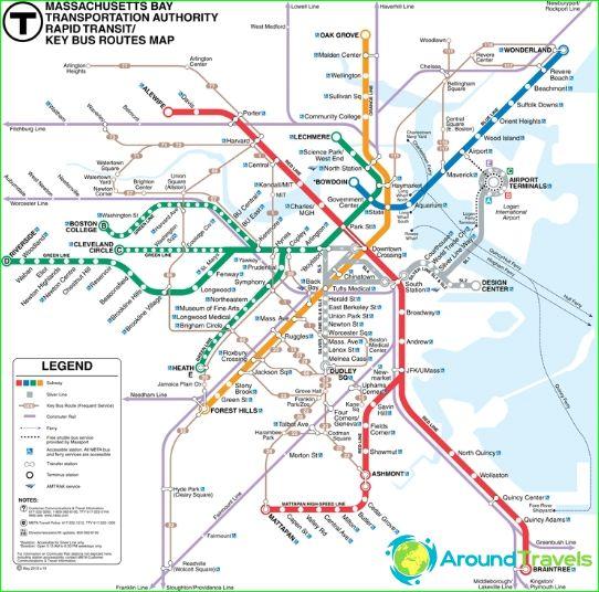 Bosotn Subway Map.Boston Metro Diagram Description Photos Boston Subway Map