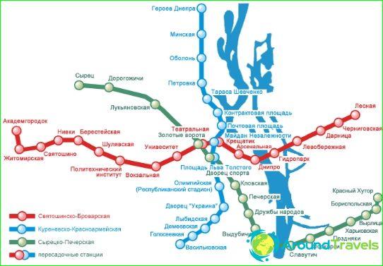 Kiovan Metro Kaavio Kuvaus Kuvia Metro Kartta Kiev