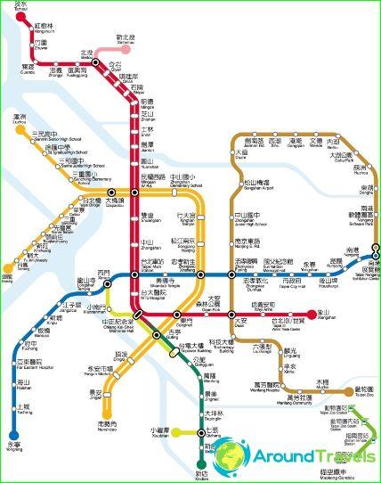 Subway Map Taipei.Metro Taipei Diagram Description Photos Taipei Subway Map