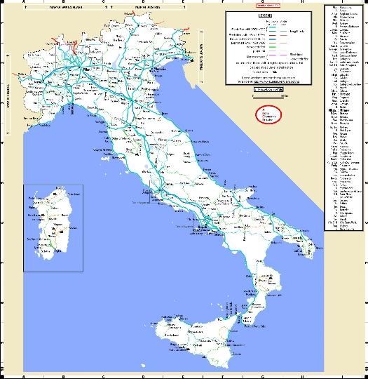 Rautatiet Italia Kartta Verkkosivusto Valokuvia