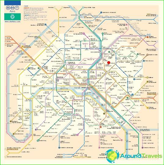 Metro Paris Kaavio Kuvaus Kuvia Paris Metro Kartta
