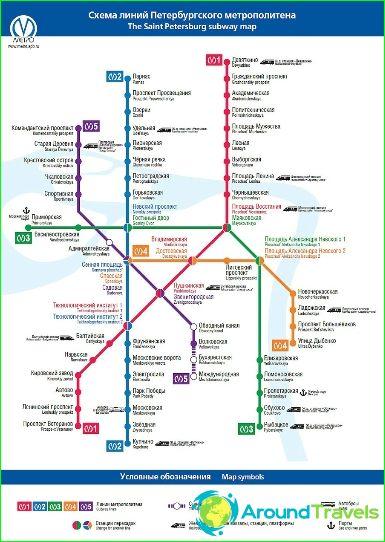 Metro St Petersburg Diagram Description Photos Map Of St